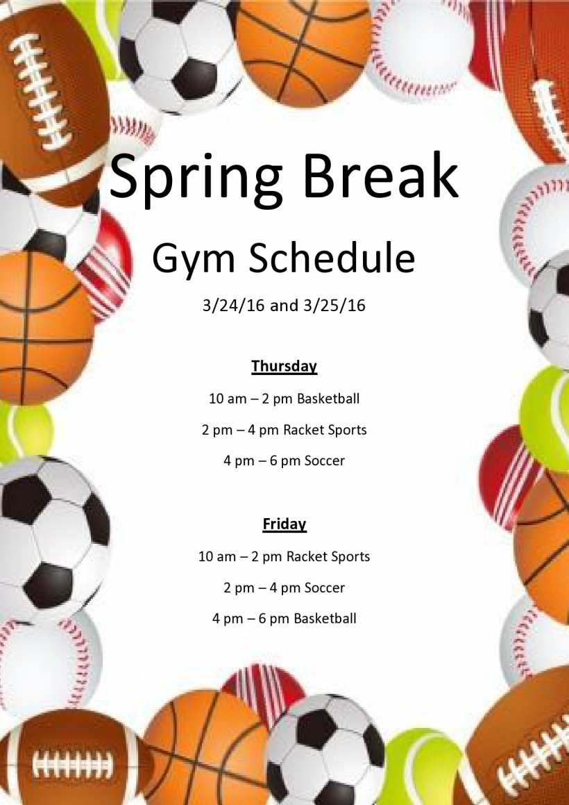 Spring Break schedule-page0001